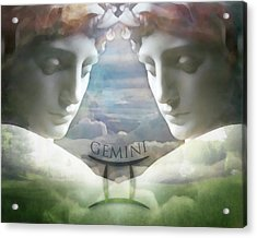 Acrylic Print featuring the digital art Gemini Twins by Kathleen Holley