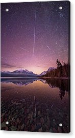 Geminid Meteor Storm // December 13th, 2017 // Lake Mcdonald, Glacier National Park Acrylic Print
