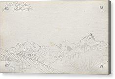 Gemmi Pass, Valais Alps Acrylic Print