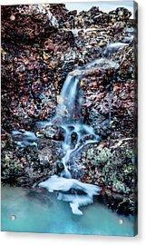 Gemstone Falls Acrylic Print by Az Jackson