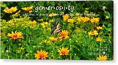 Gen Er Os I Ty  Acrylic Print by Diane E Berry