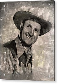 Gene Autry, Western Actor And Singer Acrylic Print by Mary Bassett