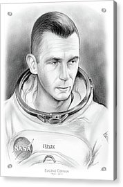 Astronaut Gene Cernan Acrylic Print by Greg Joens