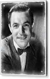 Gene Kelly By John Springfield Acrylic Print by John Springfield