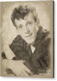 Gene Vincent, Music Legend By John Springfield Acrylic Print by John Springfield