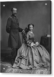 General Custer And His Wife Libbie Acrylic Print by War Is Hell Store