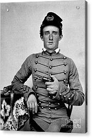General Custer At West Point Ca 1859 Acrylic Print by Jon Neidert