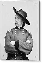 General Custer Acrylic Print by War Is Hell Store
