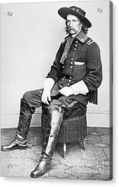General George A Custer  Acrylic Print by Matthew Brady