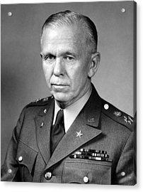 General George Marshall Acrylic Print by War Is Hell Store