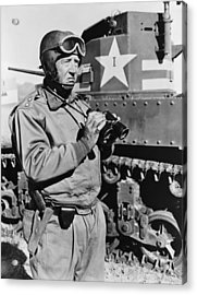 General George S. Patton 1885-1945 Acrylic Print by Everett