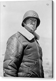 General George S. Patton Acrylic Print by War Is Hell Store