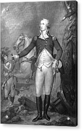 General George Washington At Trenton Acrylic Print by War Is Hell Store