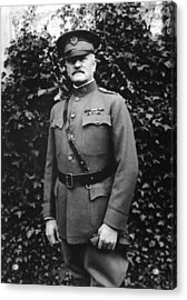 General John J. Pershing Acrylic Print by War Is Hell Store