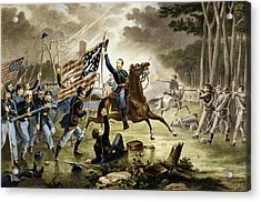 General Kearney's Gallant Charge At The Battle Of Chantilly Acrylic Print