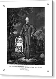 General Lee Visits The Grave Of Stonewall Jackson Acrylic Print by War Is Hell Store
