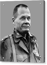 General Lewis Chesty Puller Acrylic Print by War Is Hell Store