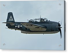 General Motors Tbm-3e Avenger Nx7835c Chino California April 30 2016 Acrylic Print by Brian Lockett