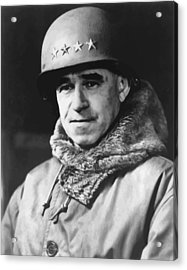 General Omar Bradley Acrylic Print by War Is Hell Store