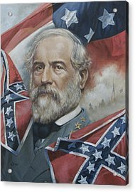 General Robert E Lee Acrylic Print by Linda Eades Blackburn