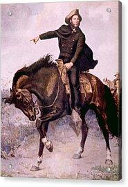 General Sam Houston At The Battle Acrylic Print by Everett
