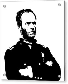 General Sherman Acrylic Print by War Is Hell Store
