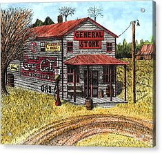 General Store Acrylic Print by Mike OBrien