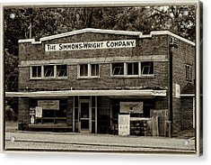 General Store - Vintage Sepia With Border Acrylic Print
