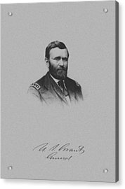 General Ulysses Grant And His Signature Acrylic Print by War Is Hell Store