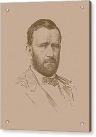General Ulysses S Grant Acrylic Print by War Is Hell Store