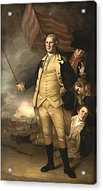 General Washington At The Battle Of Princeton Acrylic Print