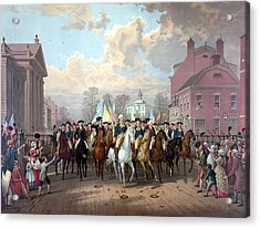 General Washington Enters New York Acrylic Print by War Is Hell Store