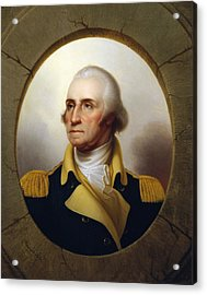 General Washington - Porthole Portrait  Acrylic Print by War Is Hell Store