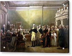 General Washington Resigning His Commission Acrylic Print by War Is Hell Store