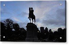 General Washington Rides Acrylic Print by Eliot Jenkins