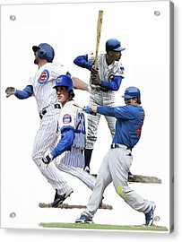 Acrylic Print featuring the painting Generations Cubs I  The Chicago Cubs by Iconic Images Art Gallery David Pucciarelli