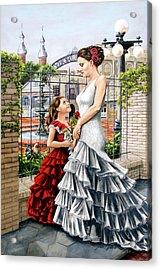 White Flamenco Acrylic Print