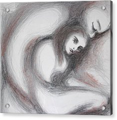 Acrylic Print featuring the drawing Generous I by Marat Essex