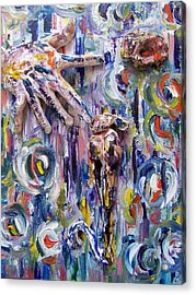 Genesis The Creation Of Eve Acrylic Print by Azul Fam