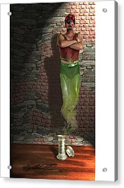 Genie In A Bottle Acrylic Print