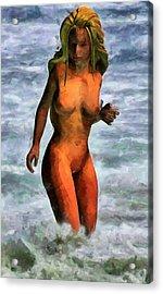 Genie Jumping Waves Acrylic Print