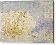 Genoa Acrylic Print by Henry Scott Tuke