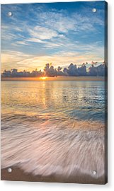Gentle Dawn II Acrylic Print by Debra and Dave Vanderlaan