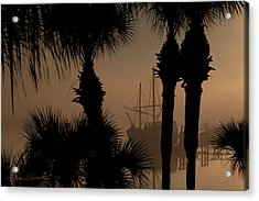 Foggy San Sebastian Sunrise Acrylic Print