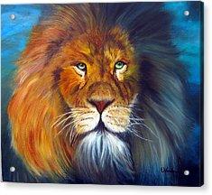 Gentle Lion King Acrylic Print