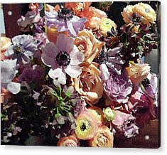 Gentle Purple Flowers Bouquet Acrylic Print