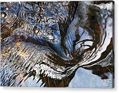 Gentle Swirl Ripple In River-3 Acrylic Print