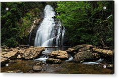 Gentle Waterfall North Georgia Mountains Acrylic Print