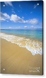 Gentle Waves Rolling Acrylic Print by Carl Shaneff - Printscapes