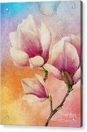 Acrylic Print featuring the digital art Gentleness by Klara Acel